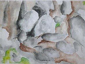 Obrazy - Sila skál - akvarel - A4 - 1674391