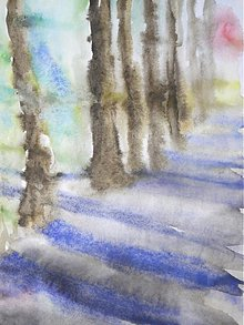 Obrazy - V parku III. - akvarel - A4 - 1674823