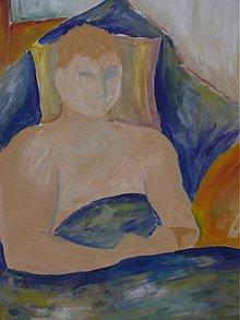 Obrazy - Muž v perinách - 1676093