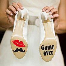 Drobnosti - nálepky na svadobné topánky - 1676785