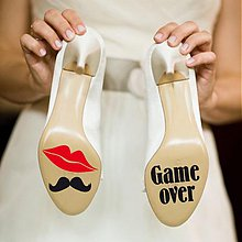 Iné doplnky - nálepky na svadobné topánky - 1676785