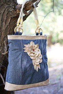 Veľké tašky - Riflová kráska s koženkou III - 1678449