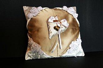 Úžitkový textil - vankúšik pod obrúčky - 1678502