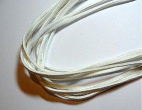Galantéria - Remienok 3mm-1m (biela) - 1682445