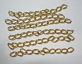 Komponenty - Predlž.retiazka-cca 5cm (zlatá-1ks) - 1682539