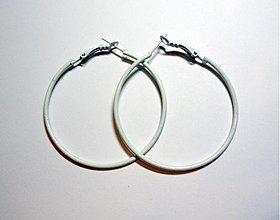 Komponenty - Náuš.kruhy 5cm-1pár (biela) - 1682689