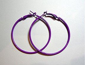 Komponenty - Náuš.kruhy 5cm-1pár (fialová) - 1682703