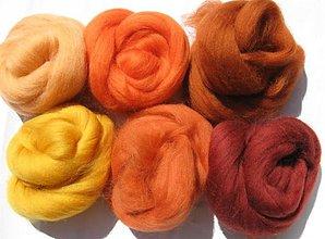 Textil - Merino vlna na plstenie -ryšavá 60 g - 1683622