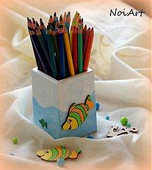 Detské doplnky - Stojan na ceruzky pre malých námorníkov - 1688399