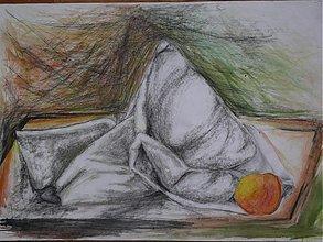 Obrazy - Zátišie s jablkom - 1690125