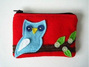 Peňaženky - Roztomila sovicka - cervena - 169105