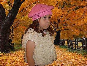 Detské čiapky - Baretka Paris - pink - 1692682