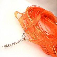 Komponenty - Náhrdelník organzový  (Orange) - 1693605
