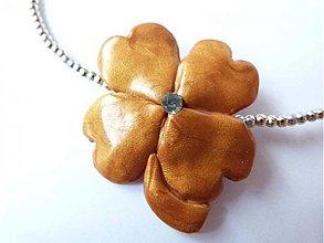 Náhrdelníky - Aspoň kúsok šťastia - náhrdelník - 1693758