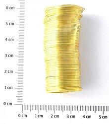Suroviny - DRO1066, DRÔT Pamäťový 2.2cm ZLATÝ /10Ø - 1694530