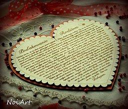 Tabuľky - Svadobné srdce 2 - Poďakovanie rodičom - 1694597