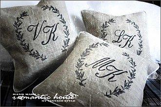Úžitkový textil - monogramme - 1695946