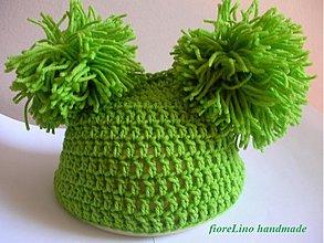 Detské čiapky - detská čiapka - brmbolcová - 1698226