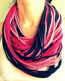 Šály - modro-ružové špagetky - 1700368