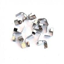 Komponenty - 1197 Koncovky na kožu, stužky a šnúrky 12x7 mm, 2 ks - 1700755