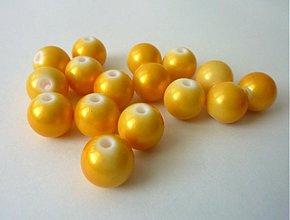 Korálky - Guličky žlté, priemer 10 mm- dopredaj! - 1704902