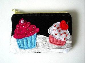 Peňaženky - Mnamkove muffinky - cierna - 170566