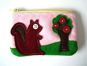 Peňaženky - Roztomila vevericka - ruzova - 170567