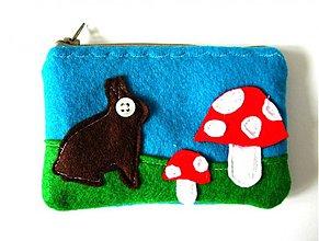 Peňaženky - Roztomily zajko - modra - 170570