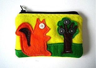 Peňaženky - Roztomila vevericka - zlta - 170571