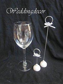 Darčeky pre svadobčanov - Stojanček na menovky- strieborný - 1718719