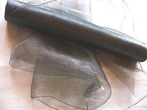 Textil - organza tmavo šedá - 172231