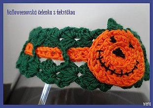 Detské doplnky - Halloweenovská čelenka s tekvičkou - 1723464