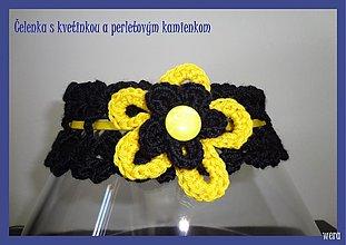 Detské doplnky - Čelenka s kvetinkou - 1723480