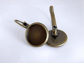 Komponenty - Náušnice visiace kruh - bronzové - 12mm -1 pár - (NL501) - 1725007