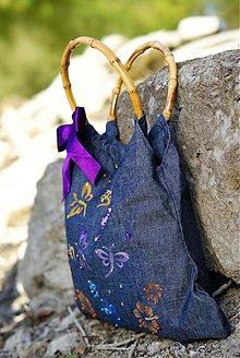 Veľké tašky - Maľovaná riflová - 1725822
