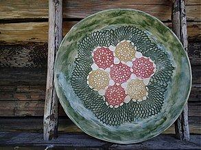Nádoby - Tanier kvety   26cm - 1726257