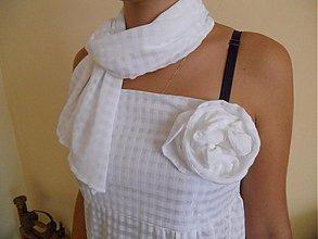 Šaty - biele slávnostné - 1734373