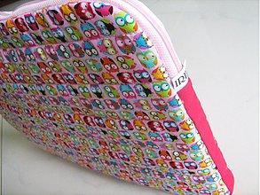 Na notebook - Veselý sovičkový- obal na notebook - 1735702