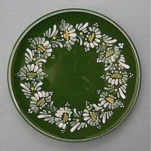 Nádoby - Tác, podnos, talíř kopretiny 22 zelený - 1742235