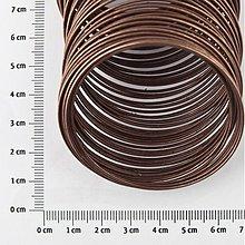 Suroviny - DRO1133, DRÔT 5.5cmx0.6mm MEDENÝ /5Ø - 1758229
