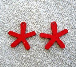 Korálky - Výsek drevený-25mm (červená-1ks) - 1759408