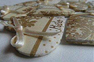 Darčeky pre svadobčanov - maslovo-zlaté magnetky pre svadobčanov - 1760811