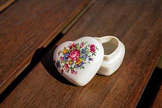 Krabičky - Šperkovnica srdce malá - pompadour - 1762062