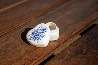 Krabičky - Šperkovnica srdce malá - royal blue - 1762089