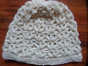 Detské čiapky - háčkovaná čiapočka - 1767785