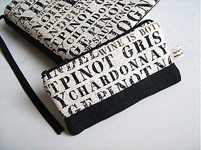 Taštičky - Pro milovníky vín - kapsička,peněženka - 1767911