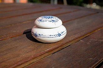 Krabičky - Šperkovnica okrúhla stredná - royal blue - 1768037