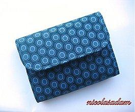 Peňaženky - Harmonika malá - modré kroužky - 1768406