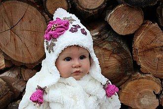 Detské čiapky - Zimná ušianka kožušteková - 1768922