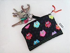 Kľúčenky - Veselé malé sovičky - klíčenka, peněženčička - 1770838